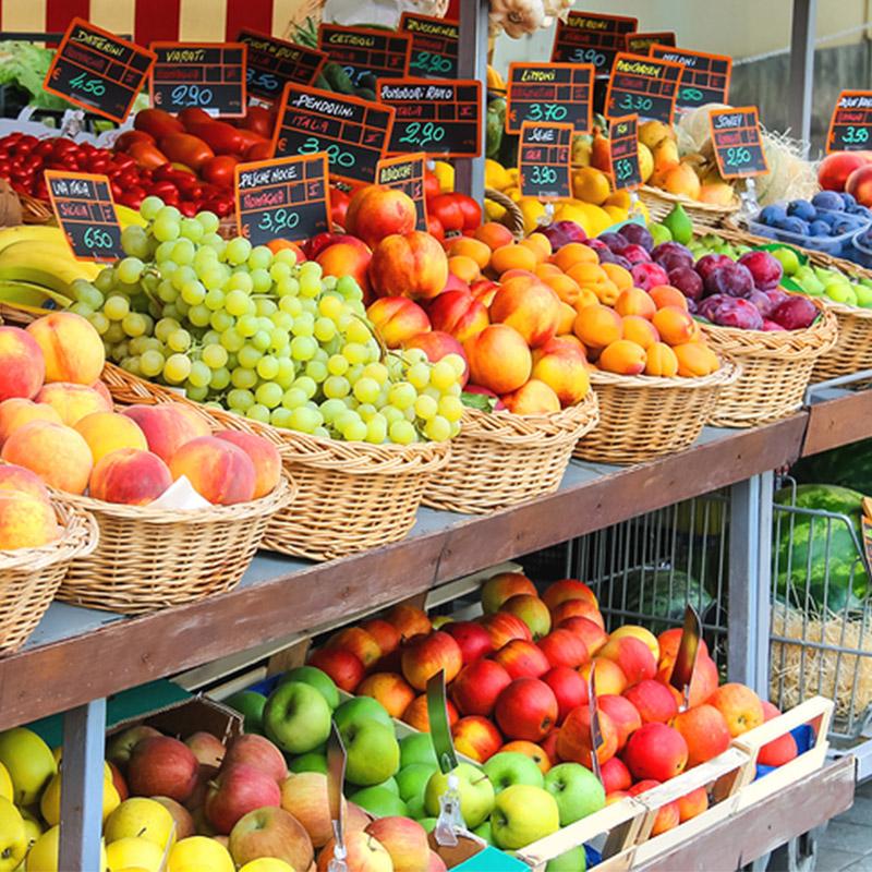 Obst von Einzelhaendler
